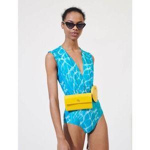 Maje x Slim Aarons Poolside One-Piece Swimsuit